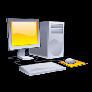 Desktop_computer_clipart_-_Yellow_theme